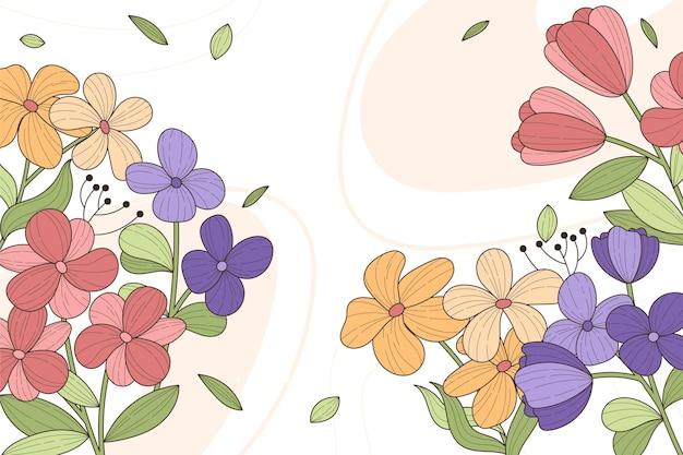 Fundo floral bonito com espaço de cópia