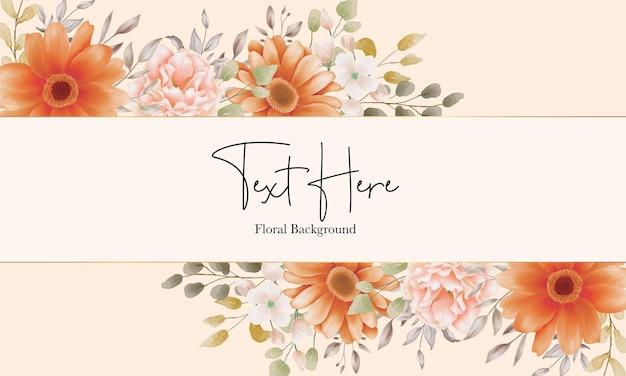 Fundo floral bonito com ornamentos florais em aquarela