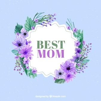 Fundo floral bonito do dia das mães