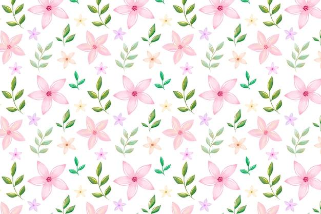Fundo floral bonito em aquarela