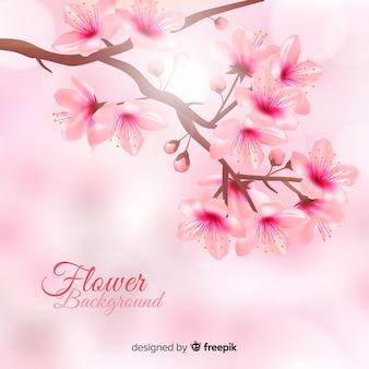 Fundo floral bonito em estilo realista