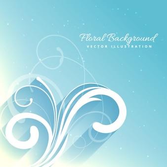 Fundo floral bonito na cor azul