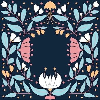 Fundo floral bonito para cartão de cumprimentos