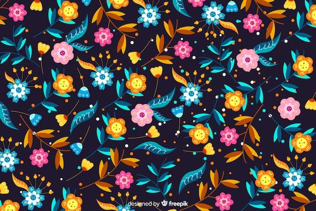 Fundo floral bonito plano