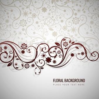 Fundo floral cinzento