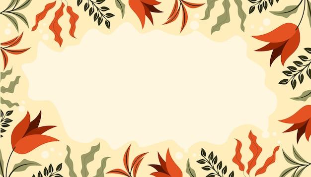 Fundo floral clássico e único abstrato
