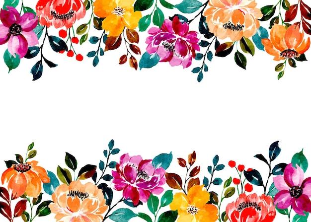 Fundo floral colorido com aquarela