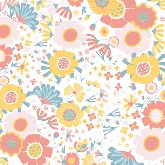 Fundo floral colorido