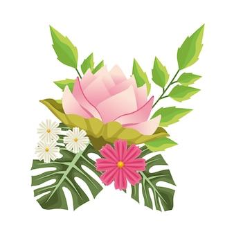 Fundo floral com cena decorativa de flores cor de rosa.