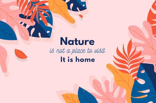 Fundo floral com citações inspiradoras