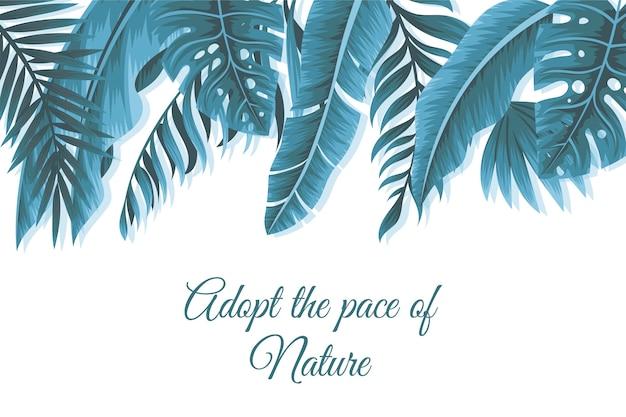 Fundo floral com citações positivas