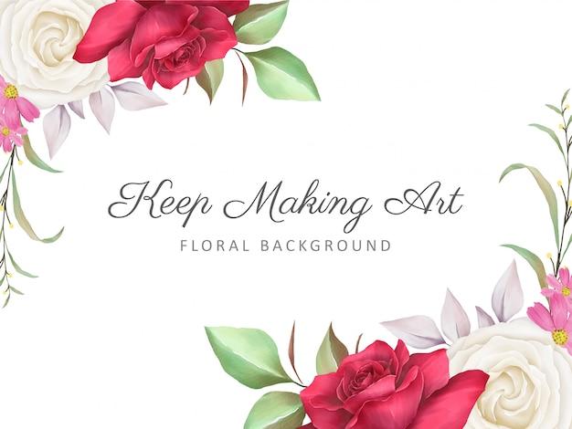 Fundo floral com decoração floral elegante