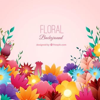 Fundo floral com espécies diferentes