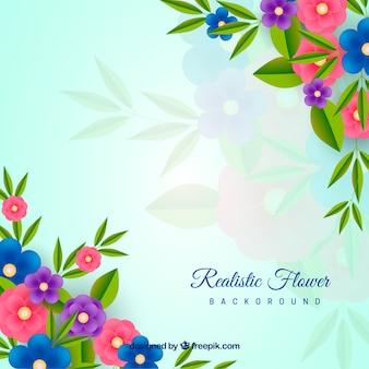 Fundo floral com estilo realista