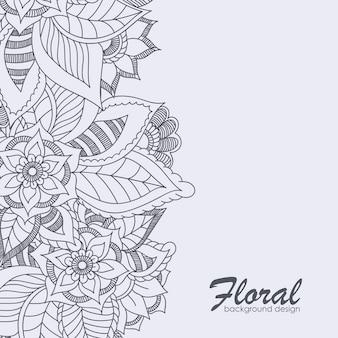 Fundo floral com flor colorida.