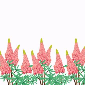 Fundo floral com flor de tremoço
