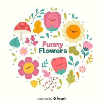Fundo floral com flores coloridas