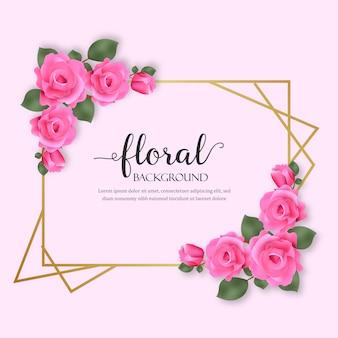 Fundo floral com flores de rosas
