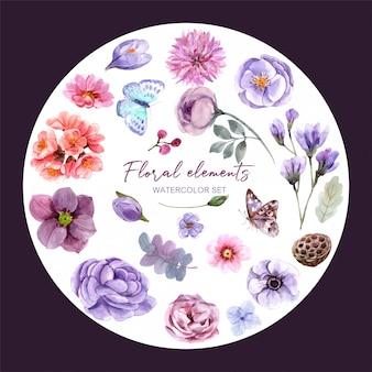 Fundo floral com flores