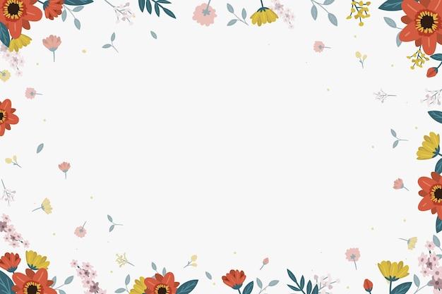 Fundo floral com folhas