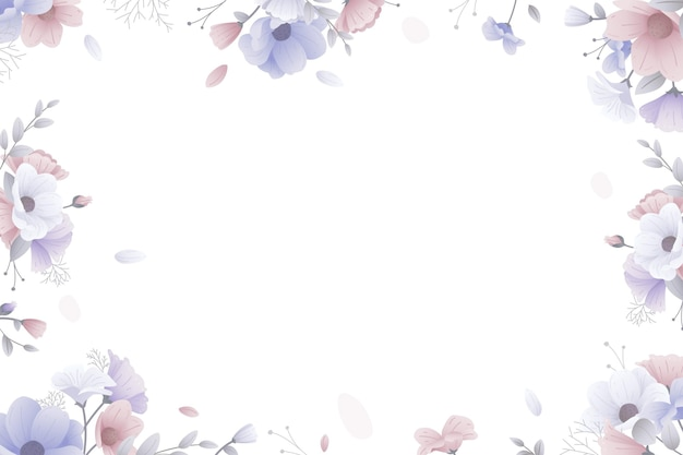 Fundo floral com moldura