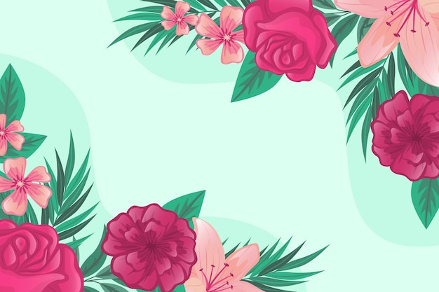 Fundo floral com rosas