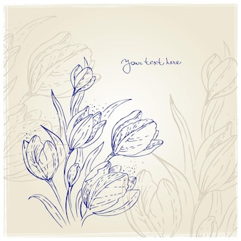 Fundo floral com tulipas