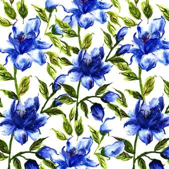 Fundo floral de aquarela