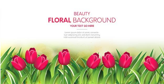 Fundo floral de beleza