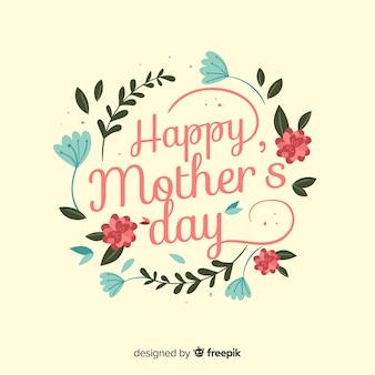 Fundo floral de dia das mães