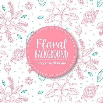 Fundo floral de madrugada de mão