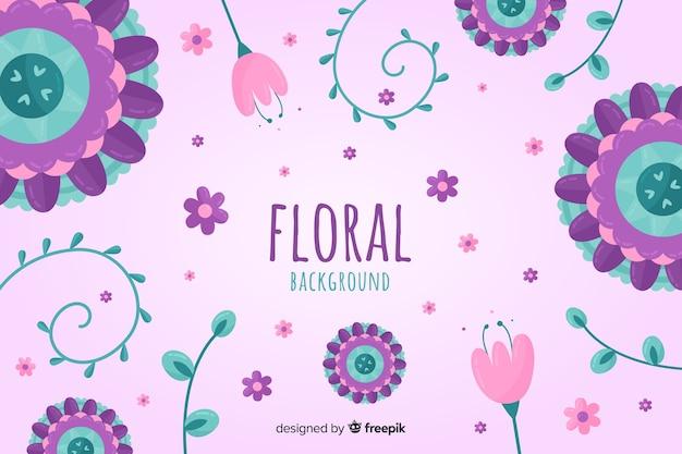 Fundo floral de mão desenhada primavera