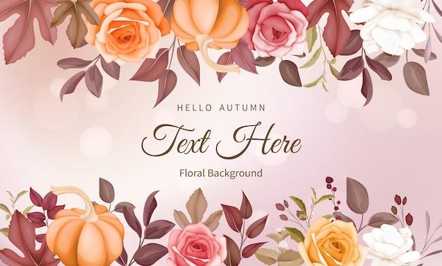 Fundo floral de outono com lindas flores