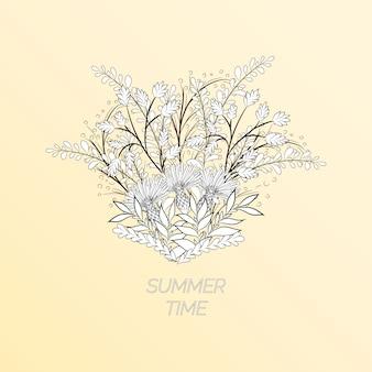 Fundo floral de verão