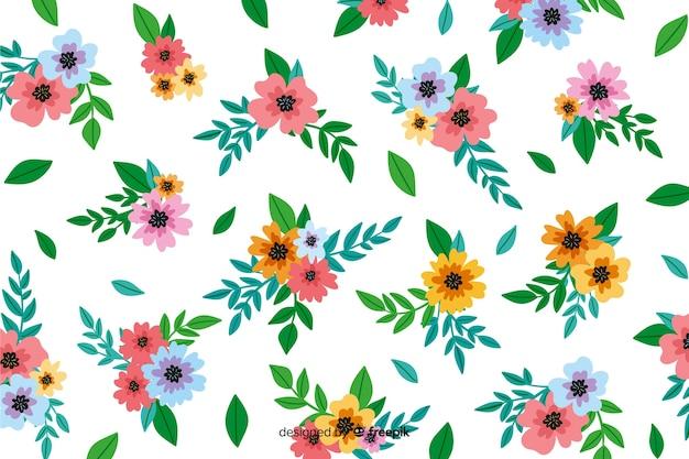 Fundo floral decorativo de pintados à mão