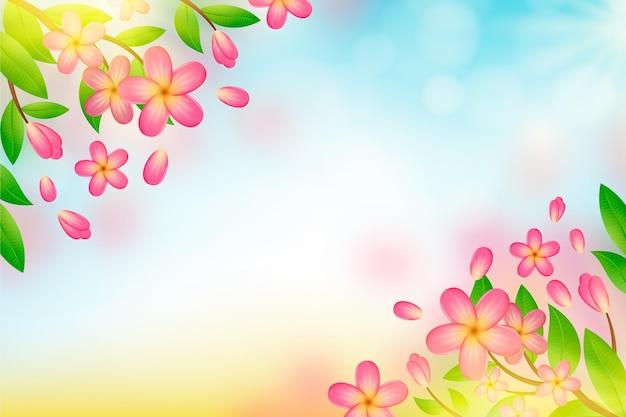 Fundo floral desfocado realista
