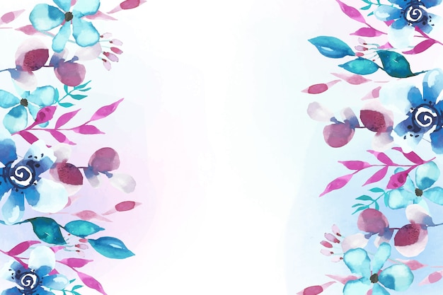 Fundo floral design aquarela