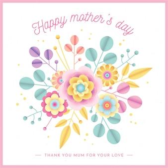 Fundo floral do dia das mães