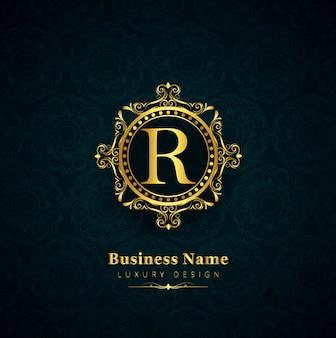 Fundo floral do logotipo empresarial