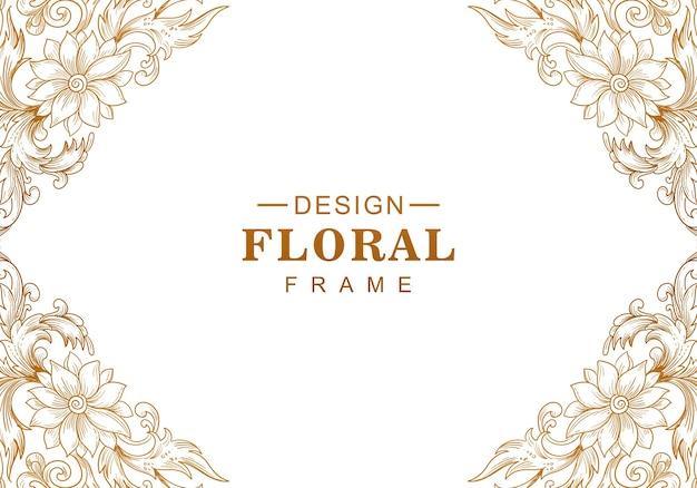 Fundo floral dourado decorativo étnico