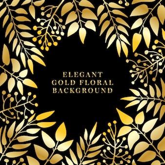 Fundo floral dourado elegante