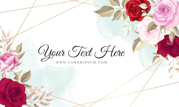 Fundo floral elegante com lindas rosas marroon