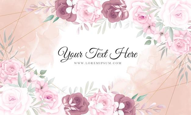 Fundo floral elegante com lindos enfeites de flores