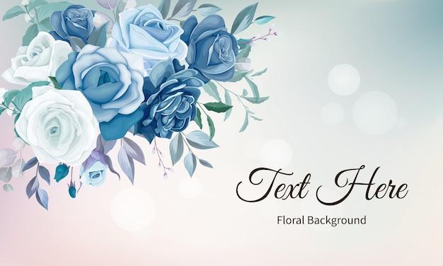 Fundo floral elegante