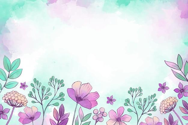 Fundo floral em aquarela