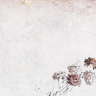 Fundo floral em branco