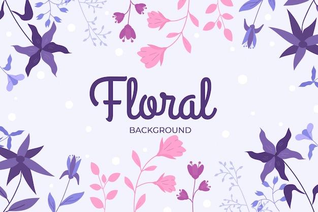 Fundo floral em design plano