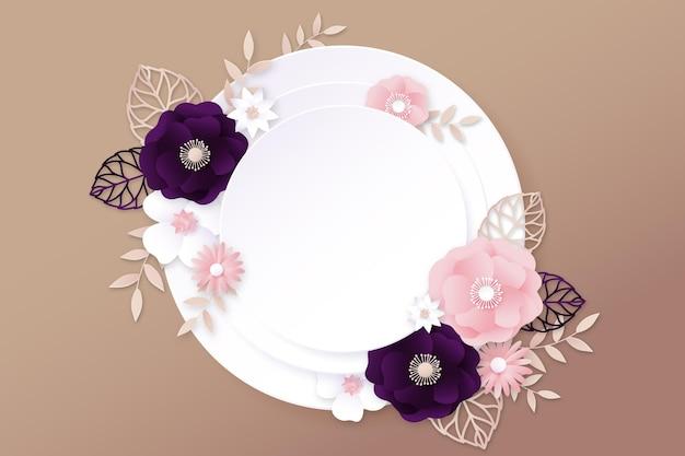 Fundo floral estilo papel