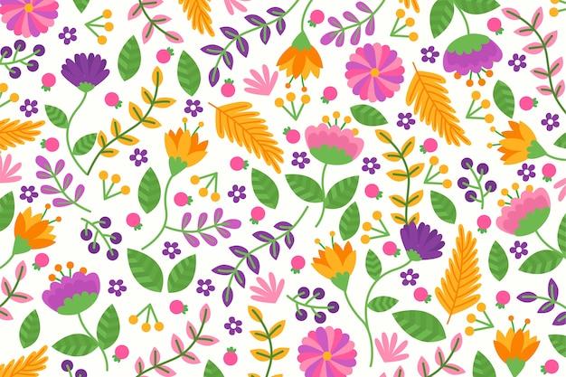 Fundo floral exótico em cores vivas