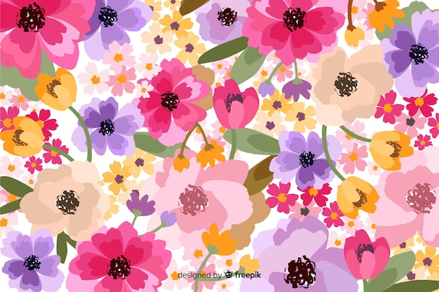 Fundo floral flor decorativa